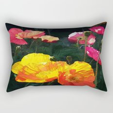 Poppies Four Rectangular Pillow
