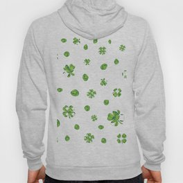 Watercolor  Lucky Charm Pattern Hoody