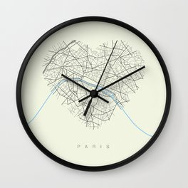 Streets of Paris Wall Clock