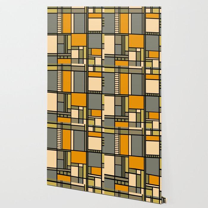 Frank Lloyd Wright Inspired Art Wallpaper