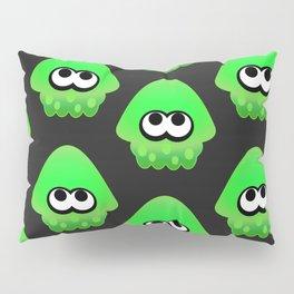 Splatoon Squid Pattern Green Pillow Sham
