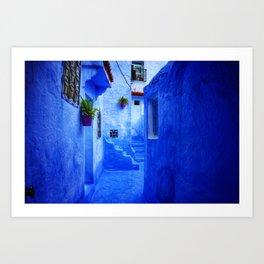 Blue Pearl Chefchaouen - Backyard Art Print