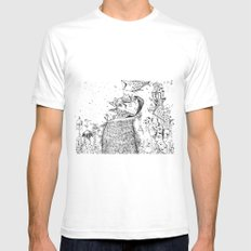 Doodle no. 2 - Happy all along my journey! Mens Fitted Tee White SMALL