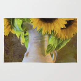 It's What Sunflowers Do - Flower Art Rug