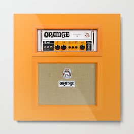Bright Orange color amplifier amp Metal Print