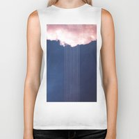 rain Biker Tanks featuring Rain by SUBLIMENATION