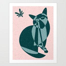 Flutter (Electric Catnip) Art Print