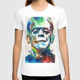 Frankenstein Art - Colorful Monster - By Sharon Cummings T-shirt