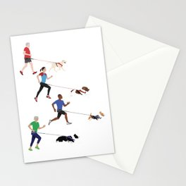 Canicross Quartet Stationery Cards