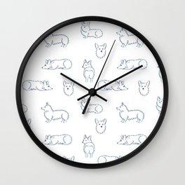 Corgi Pattern Wall Clock