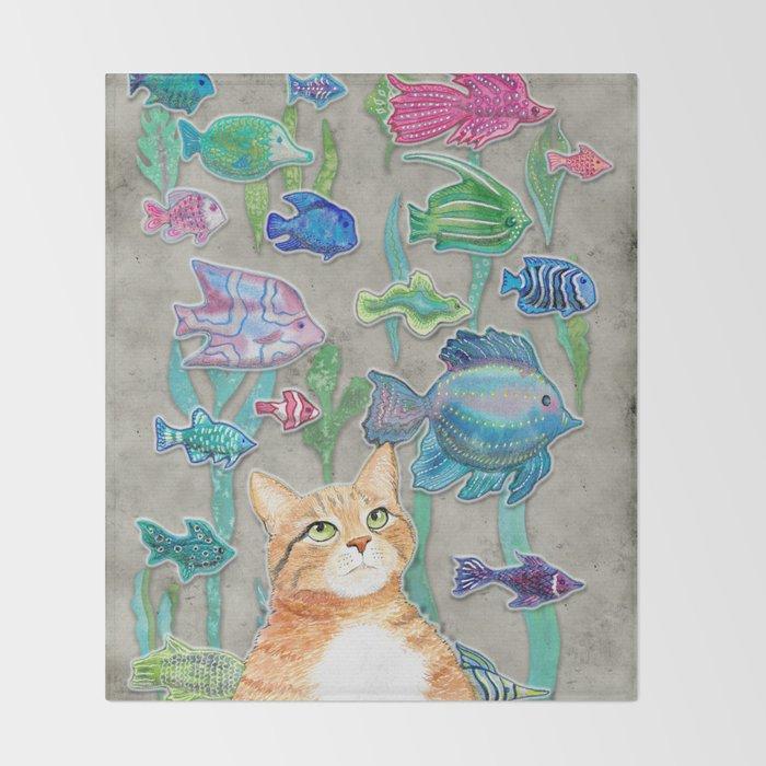 Dreamy Cat Throw Blanket