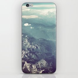 Aerial View of the French Alps iPhone Skin