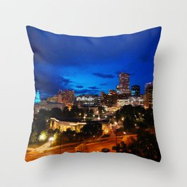 Denver Twilight Throw Pillow