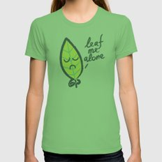 The introvert leaf Grass Womens Fitted Tee LARGE
