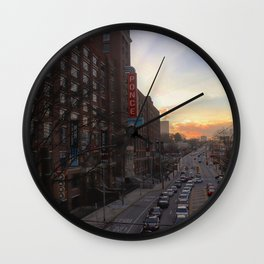 Ponce City Sunset Wall Clock