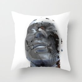 Look to the future Throw Pillow