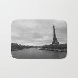 Eiffel Tower by the River Seine Bath Mat
