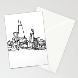 Chicago Skyline (A Continuous Line Drawing) Stationery Cards