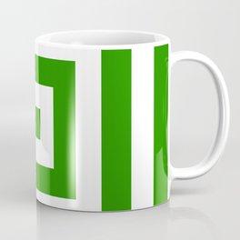 Abstract geometric pattern - green and white. Coffee Mug