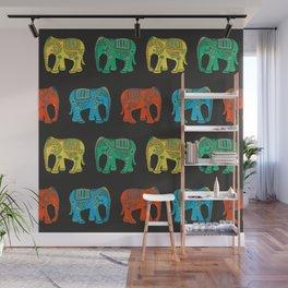 Lucky Elephant Multicolor Wall Mural