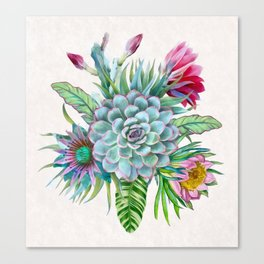 Exotic flower garden Canvas Print