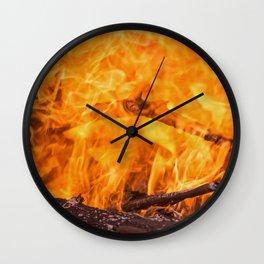 Bonfire 9 Wall Clock