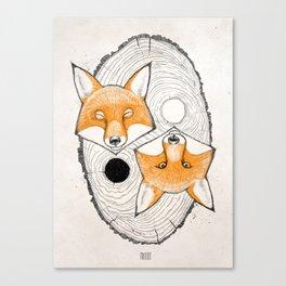 yin yang fox Canvas Print