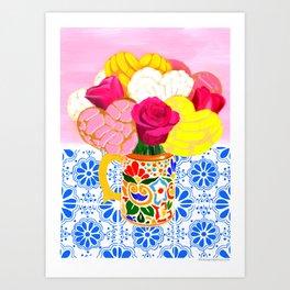 Cafe con conchas Art Print