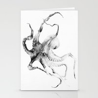 contemporary Stationery Cards featuring Octopus by Alexis Marcou