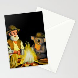 The Swagman and the Koala Stationery Cards