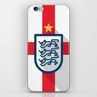 england iPhone & iPod Skins featuring England Minimal by Daniel Nyari