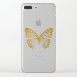 Silver Butterfly Clear iPhone Case