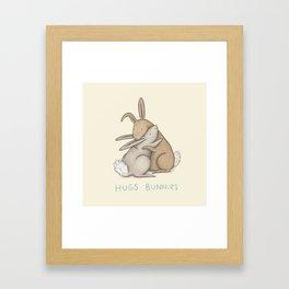 Hugs Bunnies Framed Art Print