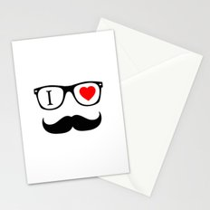 I Love Hipster Stationery Cards