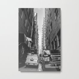 Downtown Los Angeles Alleyway (B&W) Metal Print