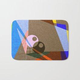 geometric eyes Bath Mat