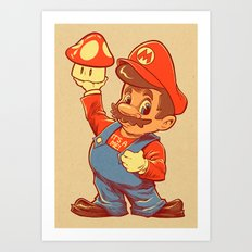 SHIGERU'S BIG BOY Art Print