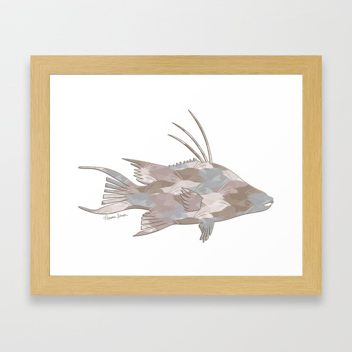 Cindy's Camouflage Hogfish Framed Art Print