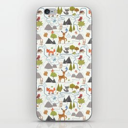 Funny Forest Map iPhone Skin