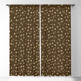 Dice Outline in Gold + Brown Blackout Curtain
