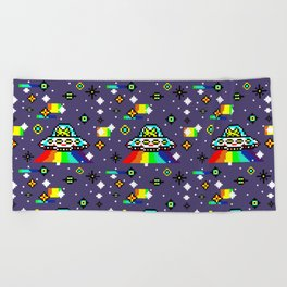 Cats Invaders Beach Towel