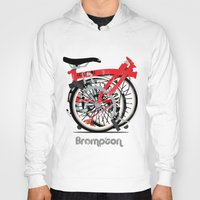 brompton Hoodies featuring Brompton Bike by Wyatt Design