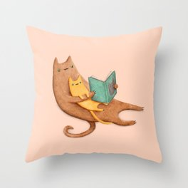 The Cat's Mother Throw Pillow