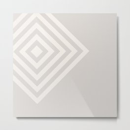 70's Retro Diamonds Cream - 3 of Series 70's Retro Metal Print