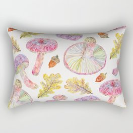 Russulas and Oak - Botanical Rectangular Pillow