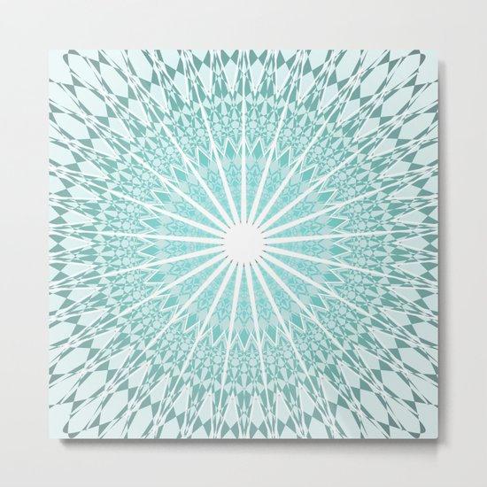 Mint Mandala Metal Print
