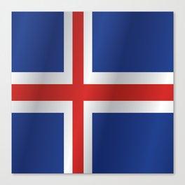 Flag of Iceland Canvas Print