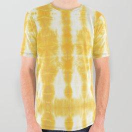 Yellow Tiki Shibori All Over Graphic Tee