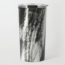 black on white 2 Travel Mug