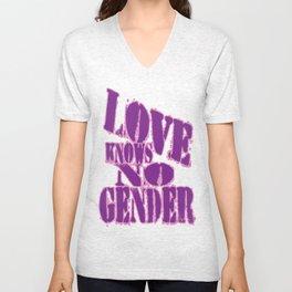 Love Knows No Gender! #2 Unisex V-Neck